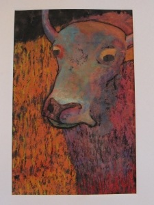 """Bull"" Mixed Media by Chance Anderson - 11th Grade at Trek North"