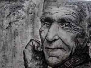 """Age"" - mixed media by Kali Benson"