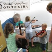 Kids get hands-on at the BSO tent!