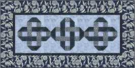 QM129 Entwined TT Tonga Indigo Dreams Runner 28x56