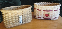 two memo baskets